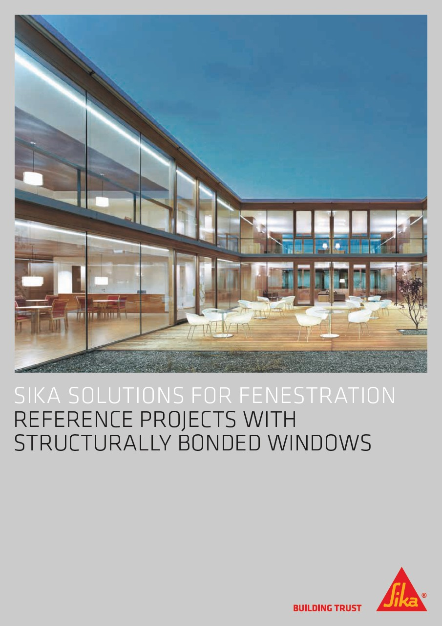 Reference projects with structurally bonded windows